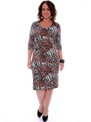 Платье SVESTA. Цвет: черный, белый, серый, коричневый