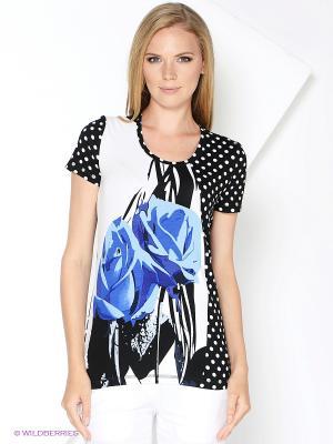 Блузка КАЛIНКА. Цвет: черный