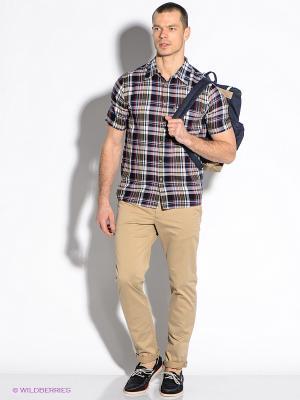 Рубашка F5. Цвет: синий, белый, красный