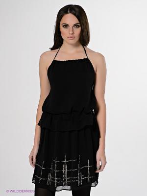 Платье Stefanel. Цвет: черный