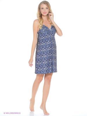 Ночная сорочка Lauma. Цвет: синий