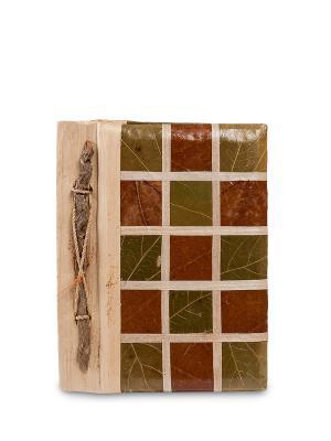 Блокнот Яркие моменты (о.Бали) мал. Decor & gift. Цвет: коричневый, зеленый