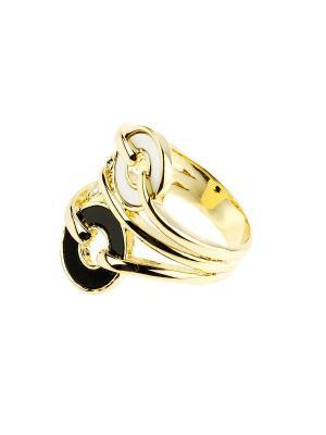 Кольцо Bijoux Land. Цвет: золотистый, белый, черный