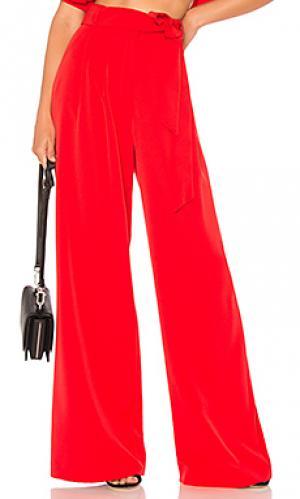 Широкие брюки natalie MILLY. Цвет: красный