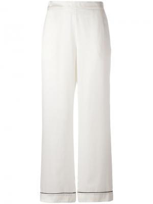 Пижамные брюки Edgy Asceno. Цвет: белый