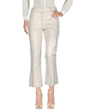 Повседневные брюки SIMONE ROCHA. Цвет: платиновый