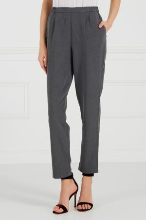 Серые брюки на эластичном поясе Cyrille Gassiline. Цвет: серый