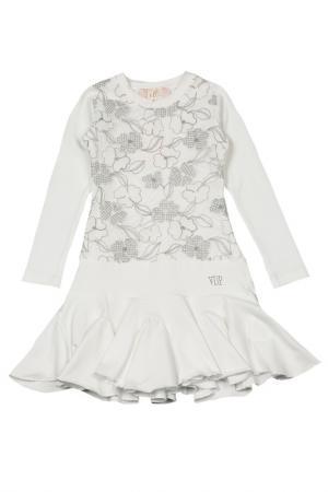 Платье VIADELLEPERLE VDP. Цвет: кремовый