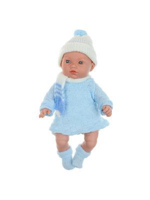 Кукла Arias  пупс Elegance 28 см, с музыкальными эффектами (5 звуков малыша). Arias.. Цвет: голубой