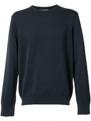 Классический свитер Vince. Цвет: синий