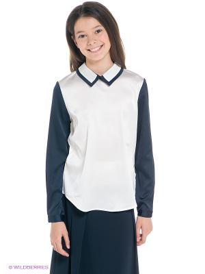 Блузка SILVER SPOON. Цвет: темно-синий, белый