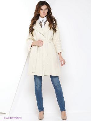 Пальто IMAGO. Цвет: кремовый, белый