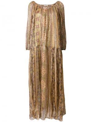Платье с цветочным узором Mes Demoiselles. Цвет: телесный