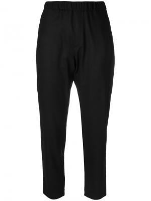 Классические укороченные брюки Barena. Цвет: чёрный