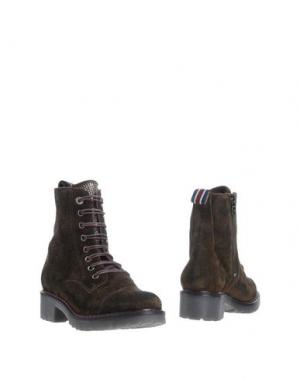 Полусапоги и высокие ботинки D'ACQUASPARTA. Цвет: темно-зеленый