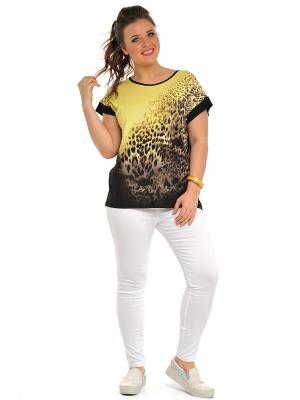 Блузка SVESTA. Цвет: черный,желтый