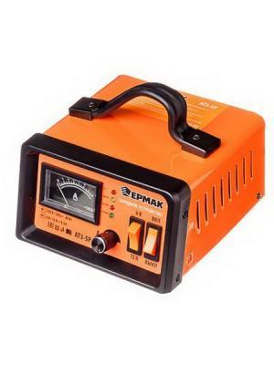 Зарядное устройство трансформаторное автомат атз-5р, 0-5a, 6в/12в Ермак. Цвет: оранжевый