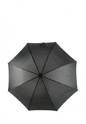 Зонт-трость Fabretti. Цвет: черный