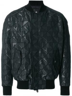 Стеганая куртка-бомбер Tom Rebl. Цвет: чёрный
