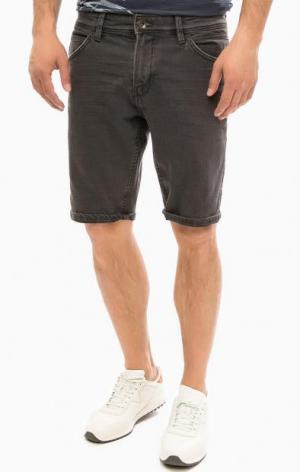 Джинсовые шорты с пятью карманами TOM TAILOR Denim. Цвет: серый