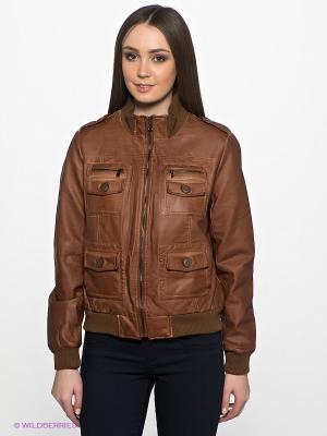 Куртка Wake Up. Цвет: коричневый