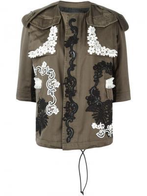 Куртка с рукавами три четверти Antonio Marras. Цвет: зелёный