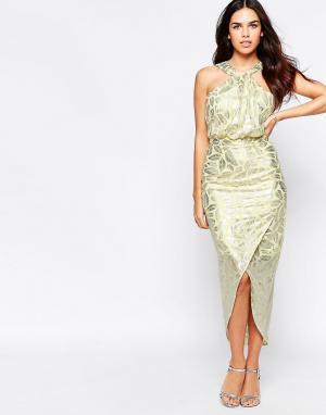 VLabel London Платье Royal. Цвет: желтый