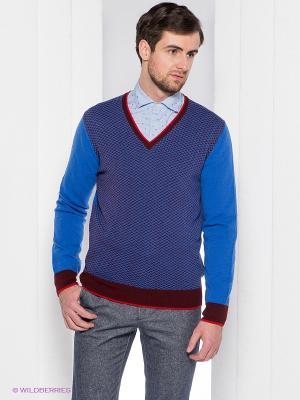 Пуловер Henry Cotton's. Цвет: голубой
