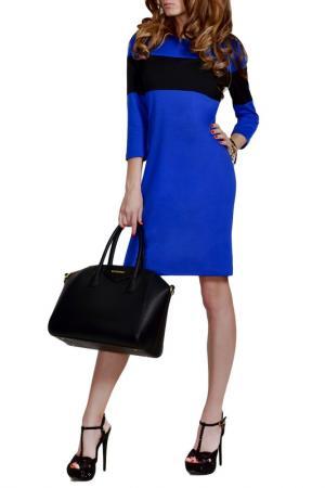 Платье FRANCESCA LUCINI. Цвет: ярко-синий, черный, ярко-синий