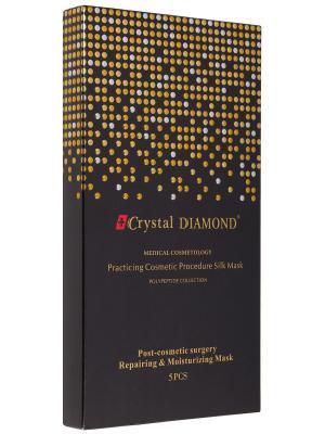 Восстанавливающая шелковая маска Crystal DIAMOND. Цвет: серебристый