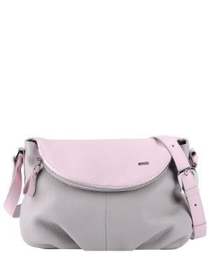 Сумка Esse. Цвет: серый, розовый