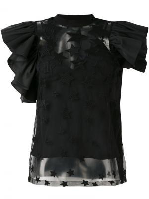 Блузка со звездами Elie Saab. Цвет: чёрный