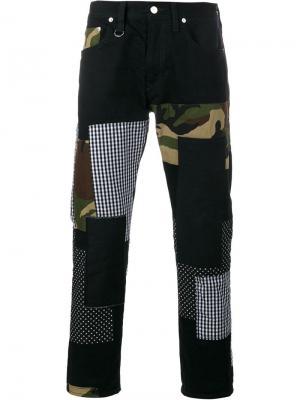 Лоскутные джинсы Patch Repair Sophnet.. Цвет: чёрный