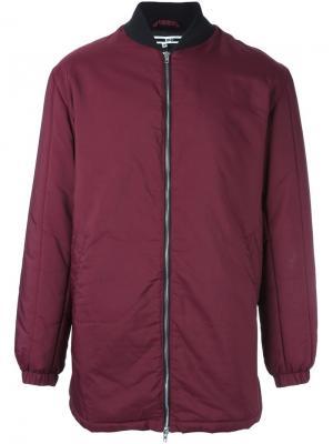 Объемная куртка-бомбер McQ Alexander McQueen. Цвет: розовый и фиолетовый
