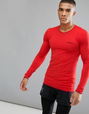 Craft Красный трикотажный лонгслив для бега Sportswear Active Comfort. Цвет: красный