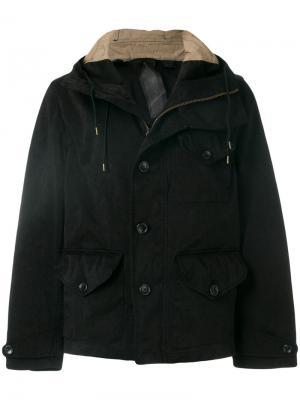 Куртка с капюшоном Ten-C. Цвет: чёрный