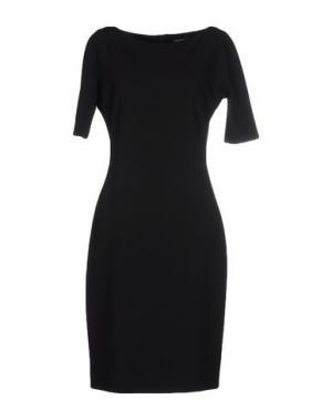 Платье до колена SIMONA MARTINI. Цвет: черный