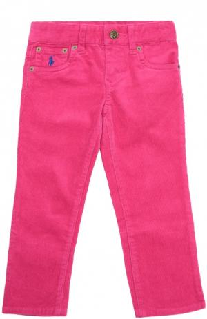 Брюки прямого кроя из эластичного хлопка Polo Ralph Lauren. Цвет: розовый