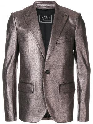 Пиджак с заостренными лацканами металлическим отблеском Unconditional. Цвет: металлический
