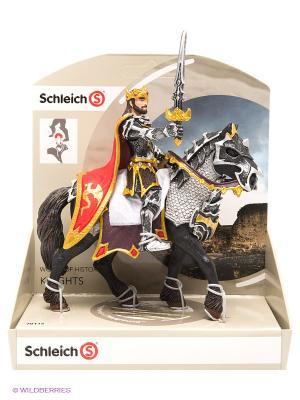Рыцарь Драконов. Король на лошади SCHLEICH. Цвет: черный