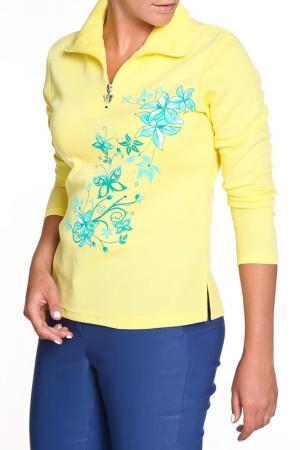 Блуза HELENA VERA. Цвет: желтый