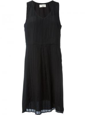 Платье с вышивкой без рукавов Cotélac. Цвет: чёрный