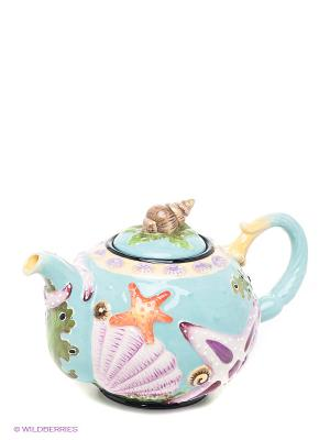 Заварочный чайник Blue Sky. Цвет: бирюзовый, сиреневый, желтый