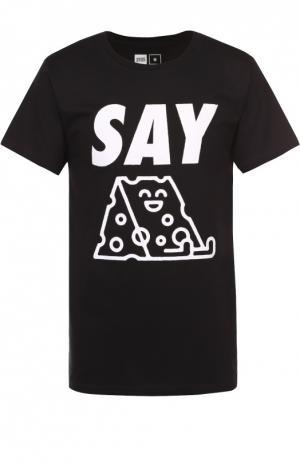Хлопковая футболка с принтом Dedicated. Цвет: черный