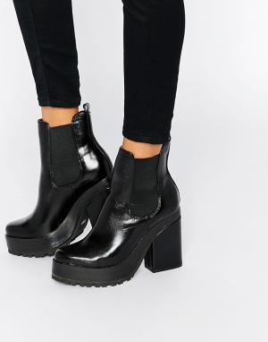 Eeight Ботинки челси на каблуке Yolanda. Цвет: черный
