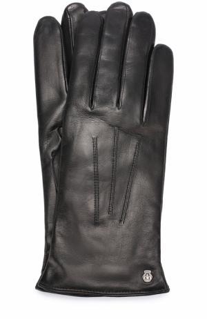 Кожаные перчатки с подкладкой из смеси шерсти и кашемира Roeckl. Цвет: черный