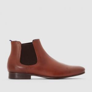 Ботинки в стиле челси Item AZZARO. Цвет: каштановый