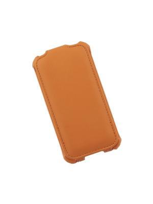 Чехол для iPhone 4/4S LP раскладной (кожа/оранжевый) Liberty Project. Цвет: оранжевый