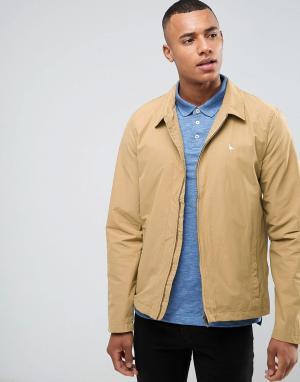 Jack Wills Легкая нейлоновая куртка Харрингтон песочного цвета Bodham. Цвет: бежевый