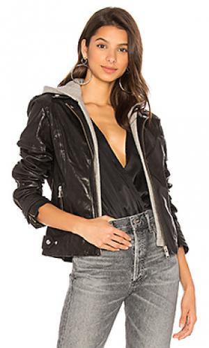Кожаная куртка anna LAMARQUE. Цвет: черный